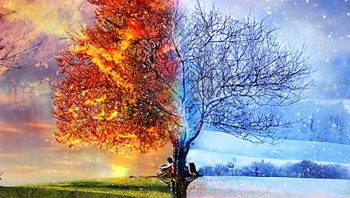есен зима